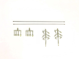 FineScale door locking rods (1 pair = 2 rods, for M0,6)...