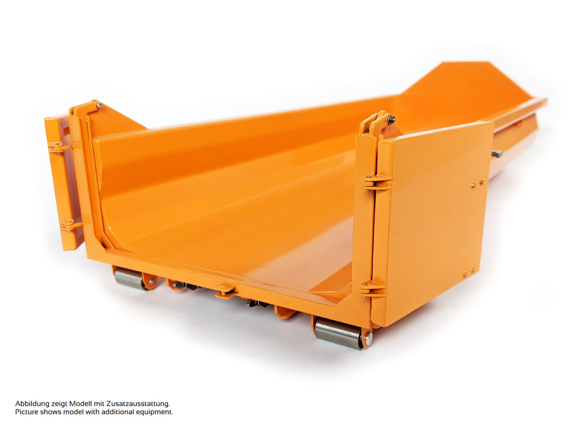 Rib-less hooklift bin, low