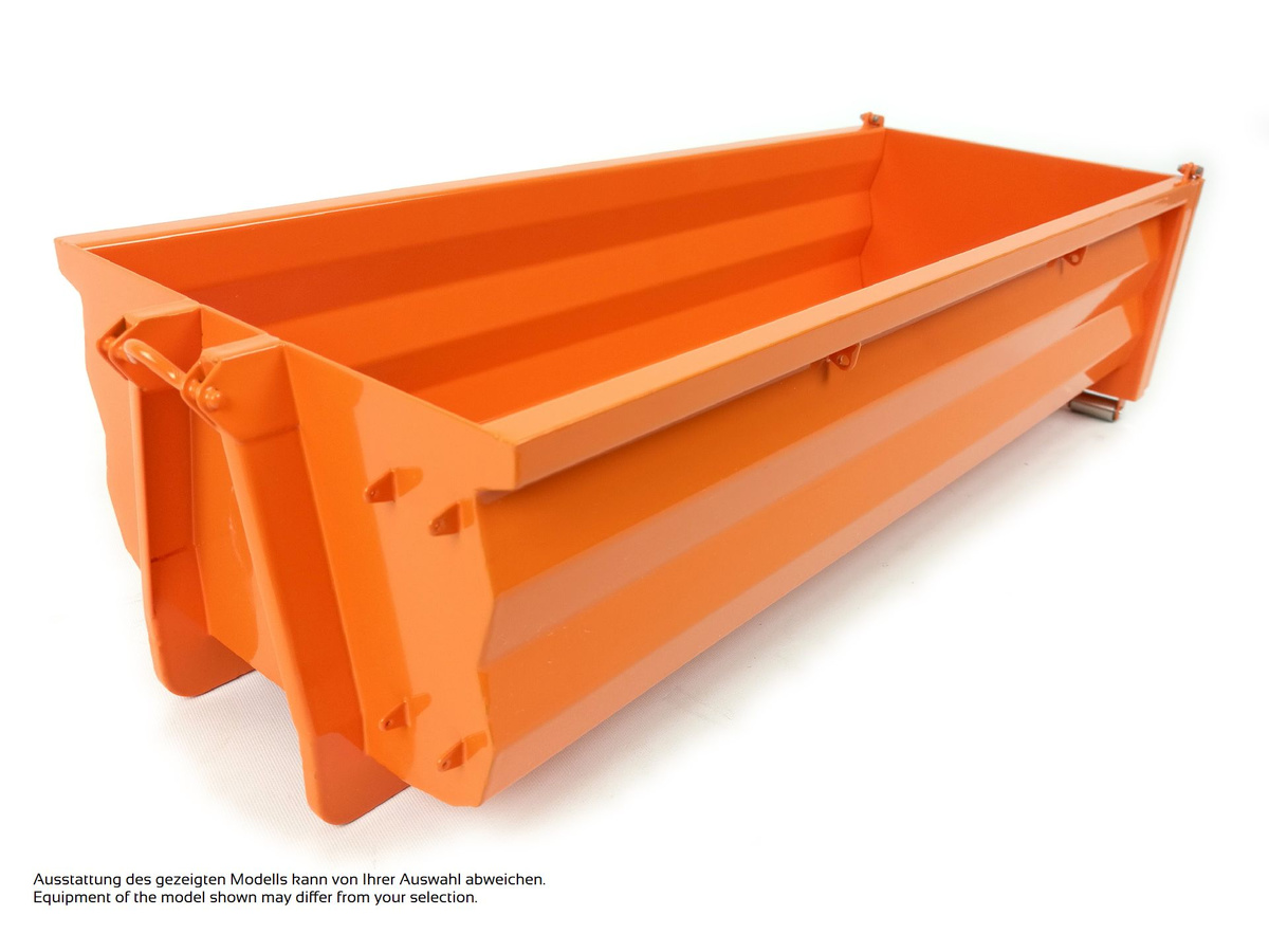Rib-less hooklift bin, mid-high
