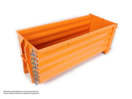 Rib-less hooklift bin, high