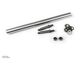 Trailer axle (single wide tires, single parts)