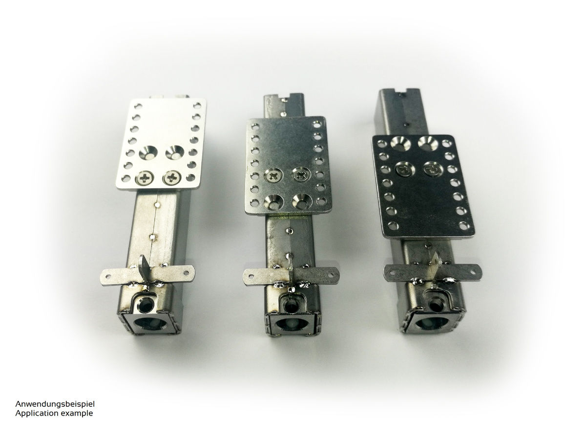 Adapter plate type COMVEC-FineScale for electric support leg