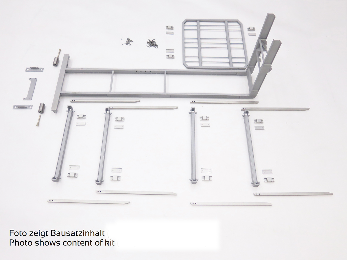 Hookloaderframe with stanchions, finished model